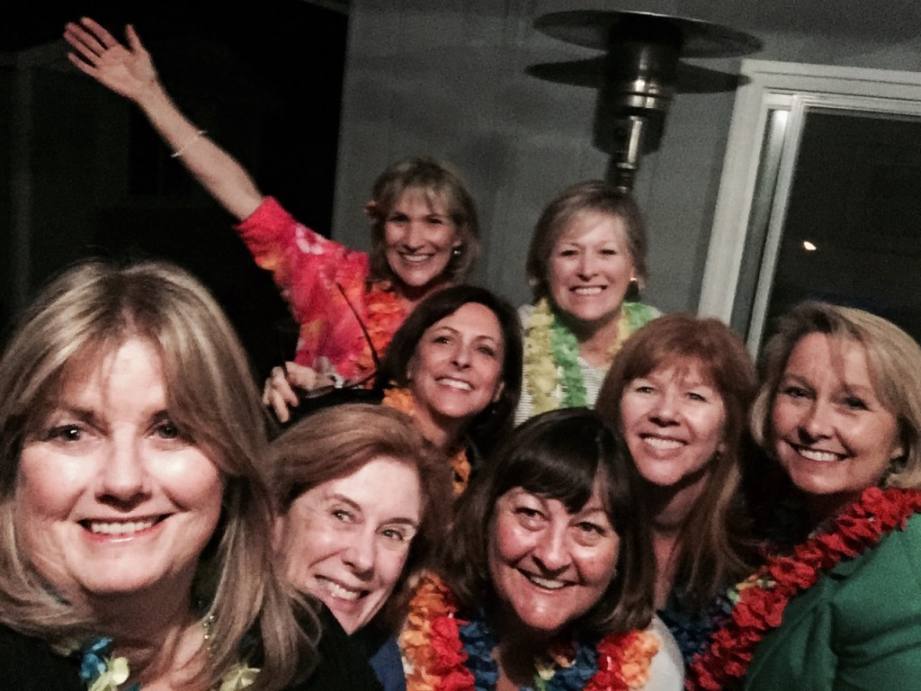 The Neighborhood Book Club In Leis and Fueled with Mai Tais