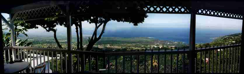 The view from the Coffee Shack along the Kona Coast
